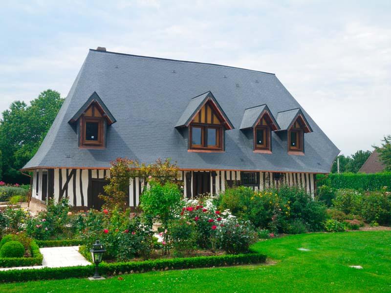 Maison normande vieux bois rénovée